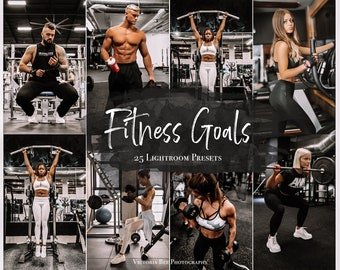 25 FITNESS LIGHTROOM Presets, Gym Instagram Filter, moody workout presets for mobile Lightroom, Crossfit Photo Editing
