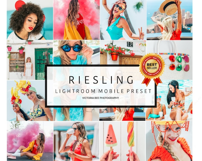 3 Lightroom Mobile Presets RIESLING Pop Colour Lightroom Preset Instagram Edition Vibrant Lightroom Mobile Preset For Bloggers