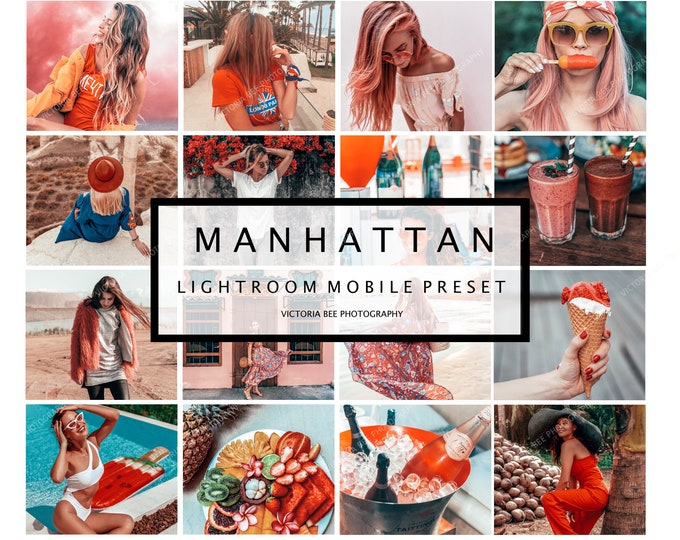 5 Lightroom Mobile Presets MANHATTAN, Instagram Lightroom presets, Mobile Lightroom Presets, Lightroom Preset, Presets Mobile, DNG