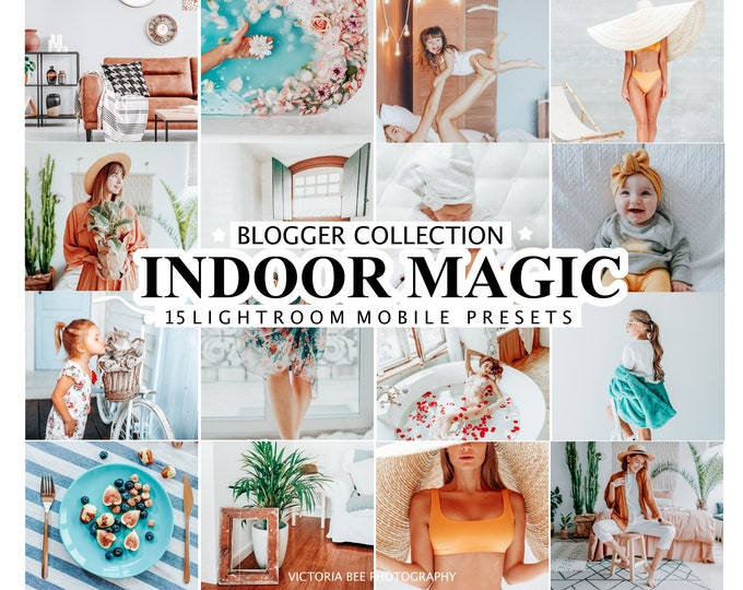 20 Lightroom Presets INDOOR MAGIC  Mobile and Desktop Lightroom Presets/ Sweet Home Lightroom Preset/ Presets for Instagram Bloggers