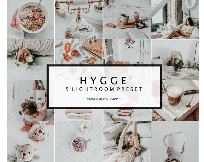 "5 Mobile Lightroom Presets Lightroom Mobile Preset Instagram Preset Preset Lightroom Desktop Presets ""Hygge"""
