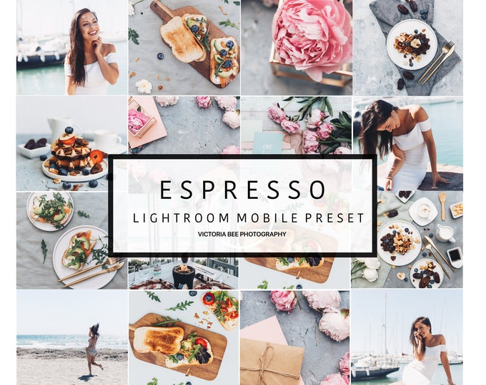 Mobile Lightroom Preset ESPRESSO Blogger Modern Preset. Lightroom mobile lifestyle preset
