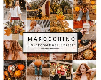 Mobile Lightroom Preset MAROCCHINO  Fall Mobile Lightroom Orange Preset Warm Autumn Tones For Bloggers