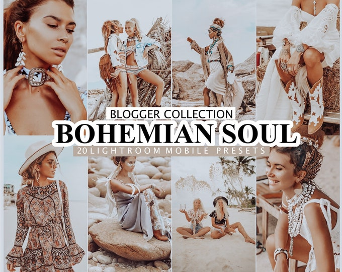 20 Lightroom Presets BOHEMIAN SOUL for Mobile and Desktop Lightroom, Instagram Presets, Lightroom Mobile Presets, Boho Photo Filter