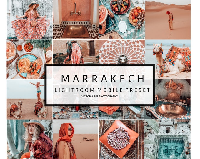 5  Lightroom Mobile Presets MARRAKECH Influencer Lightroom Presets Travel Instagram for Bloggers