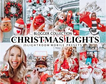 25 CHRISTMAS Presets for Lightroom, Holiday Mobile Presets, Winter Instagram Filter, Mobile and Desktop