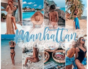 5 Lightroom Mobile Presets MANHATTAN, Instagram Photo Filter for Bloggers, Summer Lightroom  Presets for Influencer