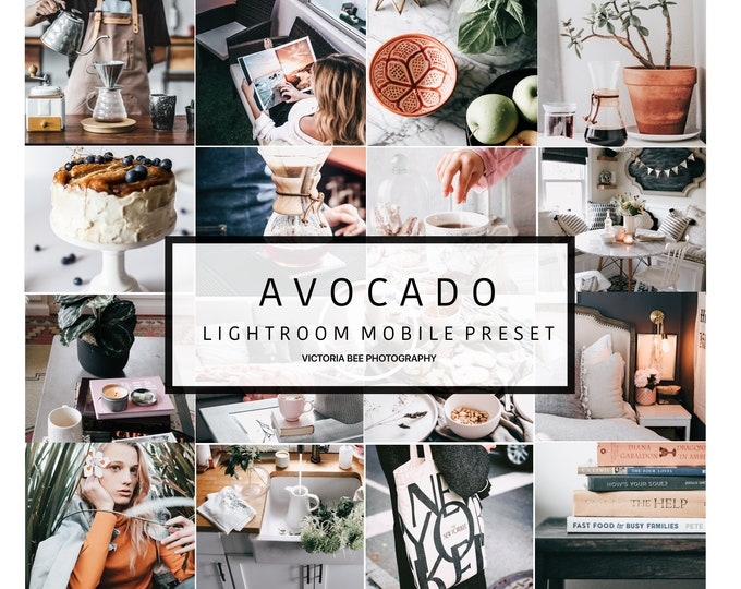 2 Mobile Lightroom Preset AVOCADO Cool Modern Tones Lightroom Preset Blogger Clean Editing