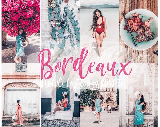 5 Lightroom Mobile Presets BORDEAUX Matte Beach Lightroom Preset Instagram Edition Lightroom mobile preset for bloggers