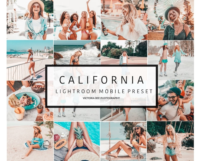 5 Mobile Lightroom presets  CALIFORNIA  Influencer Lightroom Presets Travel Instagram for Bloggers