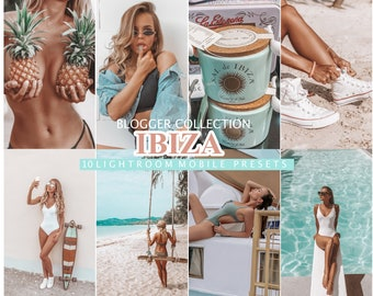 10 Mobile Lightroom Presets IBIZA, Tanned Summer Presets For Bloggers, Lifestyle Beach Instagram Filter