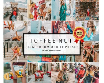 5 Mobile Lightroom Preset TOFFEE NUT Influencer Lightroom Preset Travel Blogger Instagram Lifestyle Fashion Photography