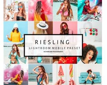 Mobile Lightroom Preset RIESLING Pop Colour Trendy Lightroom Preset Instagram Edition. Lightroom Mobile Preset For Bloggers