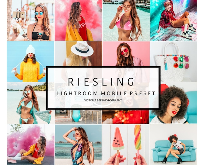 Mobile Lightroom Preset RIESLING Pop Colour Trendy Lightroom Preset Instagram Edition. Lightroom Mobile Preset For Bloggers