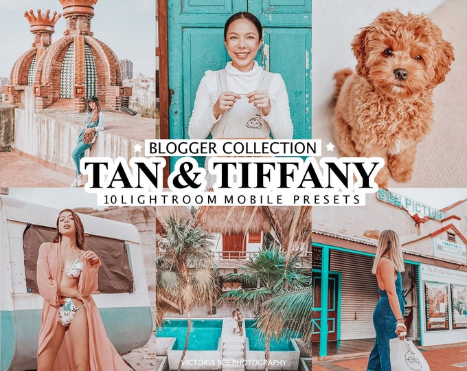 10 Mobile LIGHTROOM Presets TAN & TIFFANY, Summer Presets for Travel Bloggers, Filters for Instagram, Color Pop Presets, Beach photo