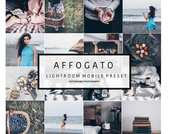 5 Mobile Lightroom Presets AFFOGATO Blogger Lifestyle Lightroom Preset For Instagram Lightroom Mobile Preset DNG file