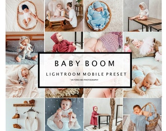 5 Mobile Lightroom Presets BABY BOOM Newborn Lightroom Presets Mobile Lightroom Presets for Kids Baby Presets