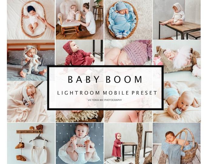 5 Bright Mobile Lightroom Presets BABY BOOM Newborn Lightroom Presets Mobile Lightroom Presets for Kids Baby Presets