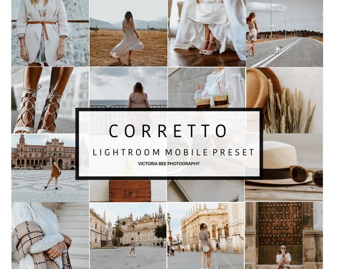 5 Mobile Lightroom Preset CORRETTO Modern Blogger Lightroom Preset For Photographers Lightroom mobile preset