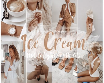 15 Lightroom Presets ICE CREAM For Desktop and Mobile Lightroom, Instagram Filter for Bloggers, Nude Presets Photo Editing