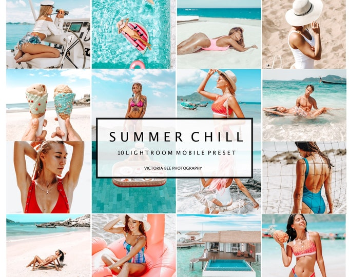 10 Lightroom Presets SUMMER CHILL  Instagram Blogger Presets, Summer Presets for Photo Editing