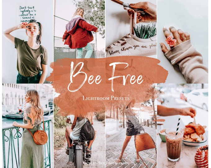 3 Mobile Lightroom presets BEE FREE / Travel Instagram preset /  Lightroom Mobile Influencer Presets For Bloggers, Photo Editing