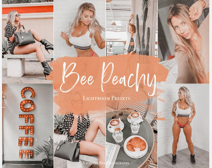 5 Mobile Lightroom Presets BEE PEACHY Influencer Lightroom Preset Travel Blogger Instagram Lifestyle Fashion Photography