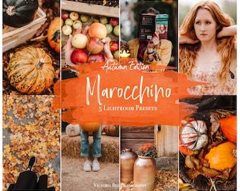 5 Mobile Lightroom Preset MAROCCHINO  Fall Mobile Lightroom Orange Preset Warm Autumn Tones For Bloggers