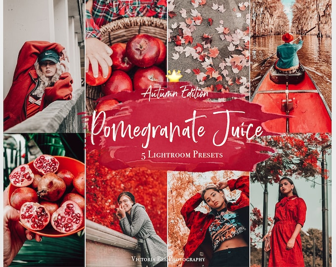 5 Mobile LIGHTROOM Presets - Pomegranate Juice, Autumn presets, Moody  Filter, Filter for Instagram, Fall Photo preset, Photo Editing