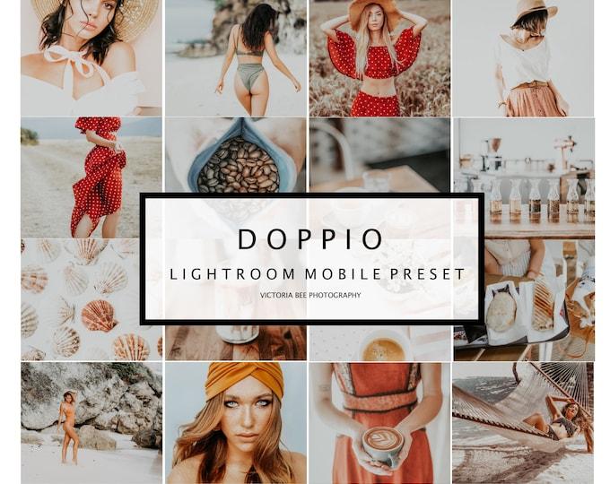 5 Mobile Lightroom Preset DOPPIO, Travel Blogger Lifestyle Mobile Preset for instagram