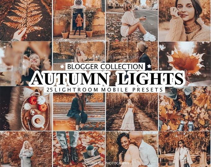 25 Lightroom Presets AUTUMN LIGHTS for Desktop and Mobile, Fall Presets, Warm Instagram Filter, Autumn Preset