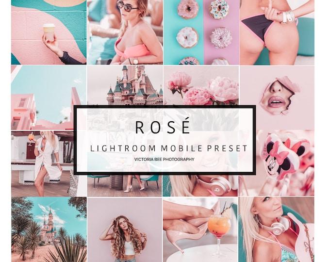 5 Mobile Lightroom Preset ROSE, Pink Instagram Photo Preset for Bloggers, Influencer Photo Editing