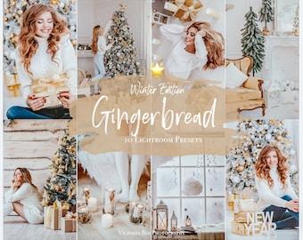 10 CHRISTMAS Presets, Mobile Lightroom preset Gingerbread, Winter Preset for Holidays, Filter for Instagram, Christmas preset, Photo Editing