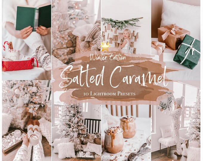 10 Mobile Lightroom Presets Salted Caramel, Christmas Presets, Holiday Instagram Presets, Winter presets, Photo Filter