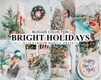 25 INSTAGRAM CHRISTMAS Presets for Lightroom, Christmas Mobile Presets, Winter Photo Filter, Instagram Presets