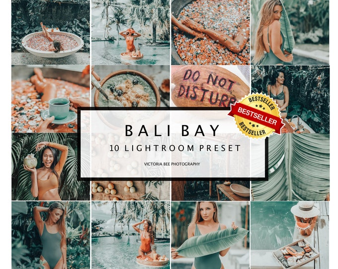 10 Mobile Lightroom Presets Bali Bay Instagram presets Lightroom mobile presets Desktop presets Photo filter Travel Summer presets