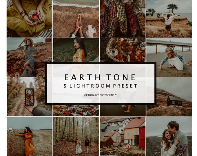 5 Mobile Lightroom Preset EARTH TONE, Moody Preset, Rich Tones Presets for Photo Editing, Blogger Fall Preset