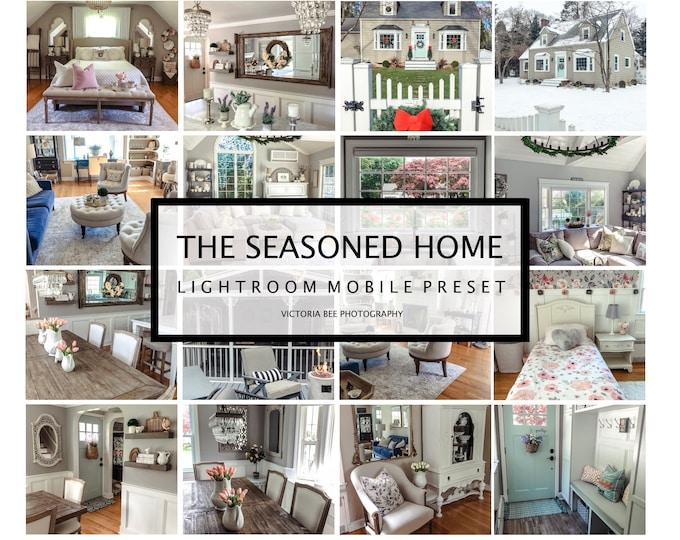 4 Lightroom Mobile Presets THE SEASONED HOME, Sweet Home Lightroom Presets for Bloggers Instagram Photo filter