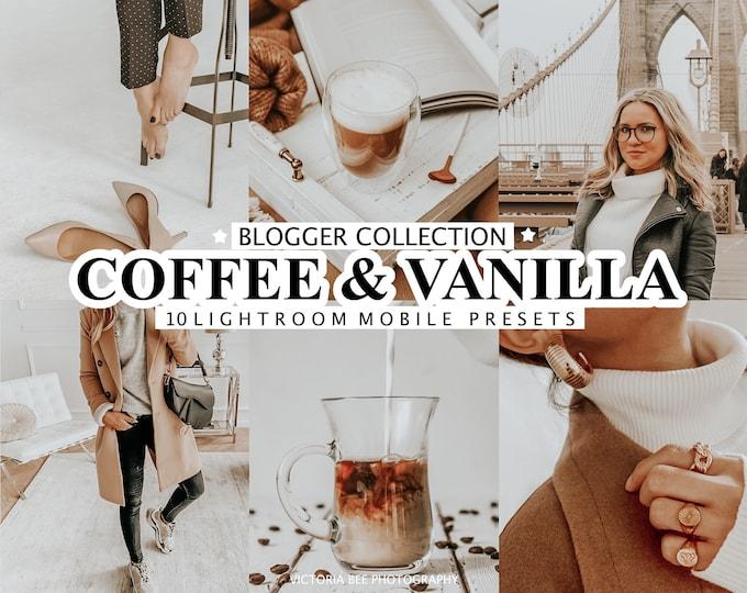 10 Mobile Lightroom Presets COFFEE & VANILLA, Beige Presets for Mobile and Desktop, Nude Tone Presets for Bloggers, Instagram Photo Filter
