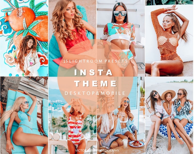 10 Lightroom Presets For Desktop and Mobile Lightroom INSTA / Lightroom Mobile Presets / Instagram Filter for Bloggers, Photo Editing