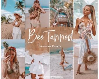 5 BEE TANNED Lightroom mobile presets / instagram influencer filter / summer preset / tan preset