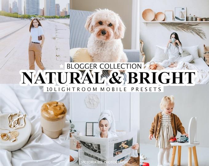 10 Mobile LIGHTROOM Presets, White Presets, Desktop Presets, Natural Light Lightroom Preset, Bright Lifestyle preset, Clean photo filter