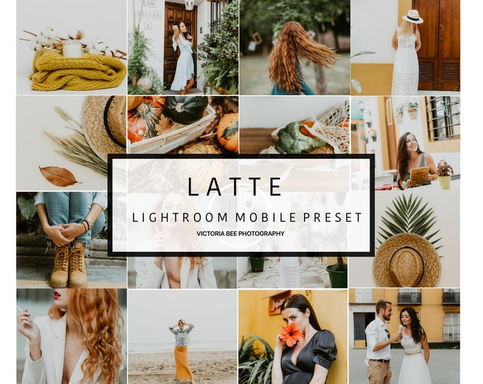 5 Mobile Lightroom Preset LATTE Modern Lifestyle Instagram Preset, Lightroom Mobile Preset for Bloggers