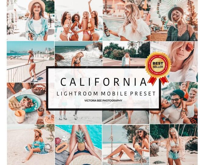 10 Mobile Lightroom Presets CALIFORNIA, Blogger Lightroom Mobile Presets Bright Summer Presets Instagram Presets Photo Filter