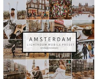 5 Lightroom Mobile Presets AMSTERDAM Travel Lightroom Preset Warm Toned Blogger  Preset