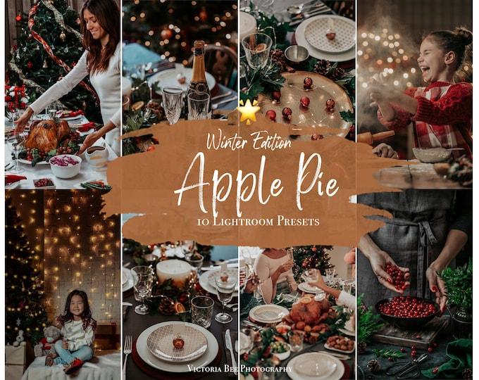 10 Mobile Lightroom Presets - APPLE PIE, Lightroom Mobile, Christmas Instagram Presets, Winter presets, Photo Filter Instagram Filter