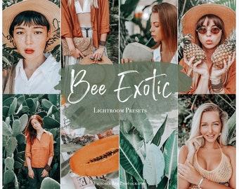 5 Mobile Lightroom Presets BEE EXOTIC Tropical Lightroom Preset, Summer Presets for Photo Editing, Instagram Filter
