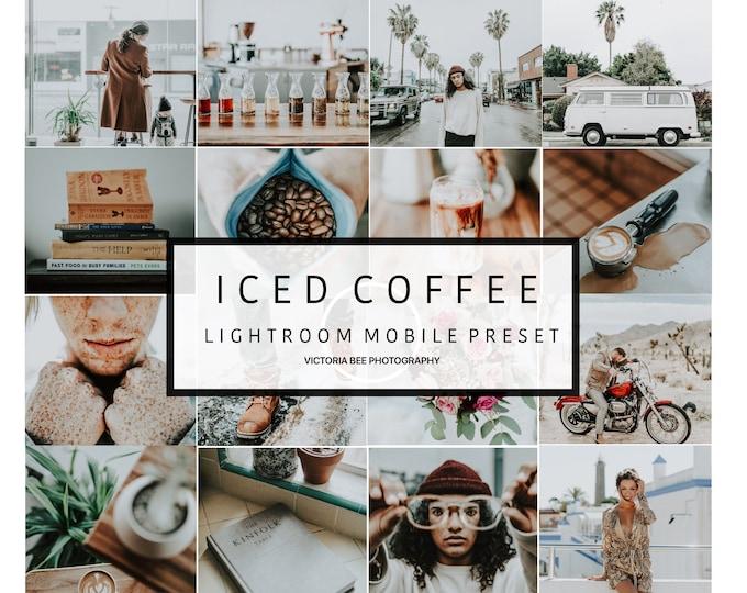5 Mobile Lightroom Preset ICED COFFEE, Blogger Lifestyle Mobile Preset, Instagram Edition, Lightroom Preset for Travel Blogger