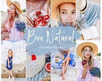 5 Mobile LIGHTROOM Presets BEE NATURAL, Bright Photo filter, Natural Preset, Natural Tones Lightroom preset, True color Instagram presets