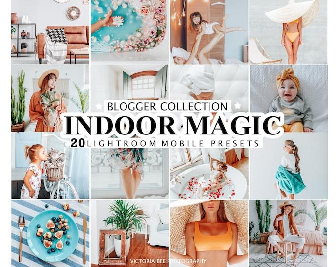 20 Mobile Lightroom Presets INDOOR MAGIC for Desktop and Mobile Lightroom, Instagram Photo Filter, Indoor Photo Presets